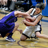 "Peak to Peak's Katharine Kia, right, fights for a loose ball with Chandler Sturms during a game against Lutheran High School on Wednesday, Jan. 30, at Peak to Peak Charter School in Lafayette. For more photos of the game go to  <a href=""http://www.dailycamera.com"">http://www.dailycamera.com</a><br /> Jeremy Papasso/ Camera"