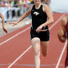 Thompson Valley High School's Megan Irvine sprints toward the finish line while competing in the 400-meter dash during the Class 4A State Track and Field Championships on Saturday, May 18, 2013 at Jeffco Stadium in Lakewood, Colo. (Photo by Steve Stoner)