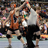 "Mead High School's Kyle Couch has his hand raised in victory after defeating Roosevelt's Josh Semmler during the Class 4A 182-pound match during the Colorado State Wrestling Championship semifinals on Friday, Feb. 22, at the Pepsi Center in Denver. For more photos of the tournament go to  <a href=""http://www.dailycamera.com"">http://www.dailycamera.com</a><br /> Jeremy Papasso/ Camera"