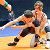 Brush's Conrad Cole, right,  wrestling Lamar's Michael Johnson in the 113-pound semi-final match in class 3A during the state wrestling championships at the Pepsi Center in Denver on Friday.<br /> February 22, 2013<br /> staff photo/ David R. Jennings