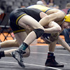 "Frederick High School's Jesse Ortiz, top, tries to takedown Thompson Valley's Collin Williams during the Class 4A 113-pound match during the Colorado State Wrestling Championship quarterfinals on Friday, Feb. 22, at the Pepsi Center in Denver. Ortiz lost the match. For more photos of the tournament go to  <a href=""http://www.dailycamera.com"">http://www.dailycamera.com</a><br /> Jeremy Papasso/ Camera"