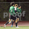 Miramonte High boys soccer team playing against Campolindo High at Campolindo in Moraga, California on Friday, February 10, 2012. Miramonte won 2-1. Photo by David Yee