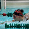 Corrin VanLanen makes the turn in the 100 fly at a FRCC regular season meet against Green Bay Preble - East.