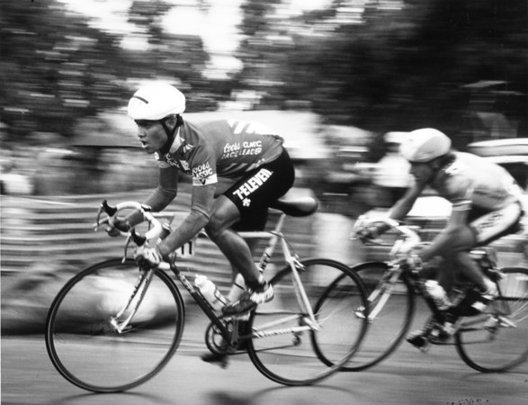 Coors International Bicycle Classic. 1987 Winner Raul Alcala. Duane Howell, The Denver Post