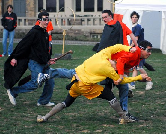 """<a href=""""http://www.dailyprincetonian.com/2008/03/25/20534/""""><i>The Daily Princetonian,</i> March 25, 2008 - """"Quidditch sweeps into Princeton""""</a>"""