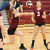 Jacy Knapp returns the ball in the Thursday, Oct. 5 game against Newfield.
