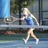 Grace Worth returns the ball in the tennis match Tuesday, Oct. 3.