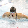 Lydia Lynch competes in the butterfly event at Watkins Glen, Thursday, Oct. 12.