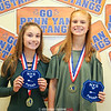 Molly and Claire Pullen won the Section V championship for Class B, Monday, Oct. 16 at the Mendon Racquet and Pool Club.