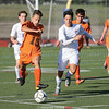 Fabian Martinez-Sanchez charges for the ball in the game against Waterloo, Thursday, Sept. 28.