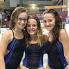 Watkins Glen divers Madelyn Suddaby, Lexi Castellaneta and Jena Slater. PHOTO PROVIDED