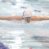 Amanda Wilbur took third in the 200 IM and fifth in the 100 butterfly (pictured) at the IAC match for Watkins.