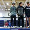 November 11, 2017; Wayne, NY; USA; Aaron Planty (417), Joe Riccardi (343), and Gabe Planty (418) during the NYSPHSAA Class C Boys Cross Country Championship at Wayne High School. Photo: Christopher Cecere