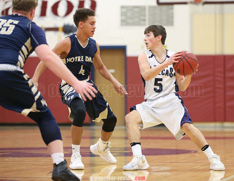 Owen Scholtisek looks to pass the ball, Friday, Dec. 15, against Notre Dame.