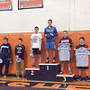 Damon Empson (fifth from left) finished third in the 138 pound division.