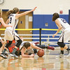 Emmie Bond dives for the ball in the sectional game last week.
