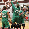 Tyler Brace shoots for Dundee in the game with Fillmore, Tuesday.
