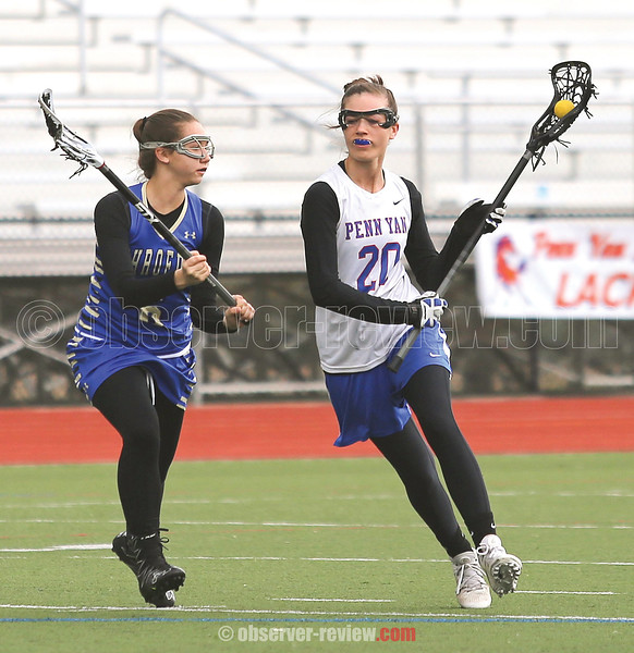 Brenna Voigt moves to the goal in the Wednesday, April 19 game.