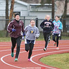 Hailey Perraut runs for Odessa-Montour, Thursday, March 30.