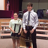 The Charles Martin Memorial Sportsmanship Awards were given to Dasia Herrmann and Nick Sgrecci. Photo Provided