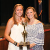 Cassie Lafler (right) was presented the Girls Coaches' Trophy by the recipient last year, Brie Yonge (left).