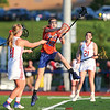 Sydney Bloom (12) jumps to block a pass during the Section V Class D Championship game.  Photo: Christopher Cecere
