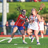 Sydney Hulse (6) defends Abby Halsey (11) during the Section V Class D Championship game.  Photo: Christopher Cecere