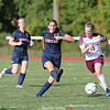 Haille Empson goes for the ball against Watkins Glen, Friday afternoon.