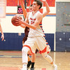 Ben Emerson moves to the basket in the Wednesday evening game.