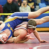 Jeremiah Lynch sets up a pin for his third place finish, Saturday.