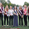 The homecoming court included: Caitlin Wunder, Sydney Hulse, 2018 Queen Rachel Wheeler, 2017 Queen Riley Kuver, Mariah Hoover, Madison Flynn and Logan Broome.