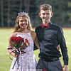 Homecoming Queen Hannah Bruno and King Johnny Niedermaier pose for a photo after being crowned Friday evening.
