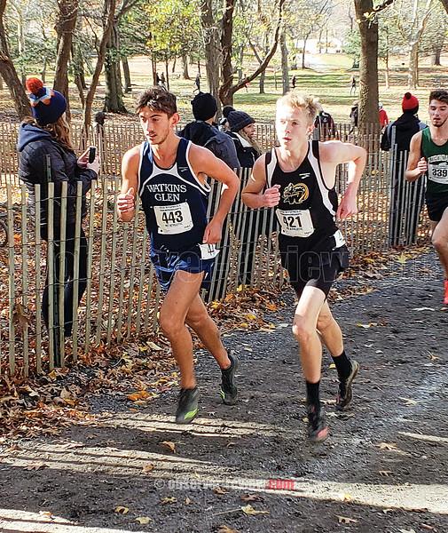Watkins Glen's Gabe Planty runs at the New York State Class C Championships. PHOTO PROVIDED