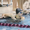 Allie Gibson after winning the 50 free, Wednesday