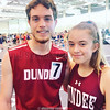 Indoor track runners Matt Wood and Lily Hall competed at SUNY Cortland last weekend. Photo Provided