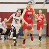 Hannah Morse breaks away with the ball, Thursday, Feb. 8, against Newark Valley.