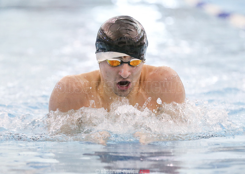 Senior Odessa-Montour swimmer, Billy Tague, recorded two first place finishes at the Section IV, Class C championships last weekend.