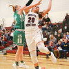 Olivia Grover shoots for Odessa in the Saturday sectional game.