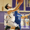 Hammondsport's Brayden Whitcomb goes for a layup in the sectional game against Romulus, Tuesday, Feb. 20.