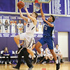 Dillan Conley scores for the Lakers in the Tuesday sectional game at Hammondsport.