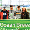 Tom, Gabe, Aaron and Amy Planty have a photo taken at the state indoor track meet last week. Photo Provided