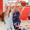 Hannah Morse shoots for Watkins Glen, Sunday, March 4, in the sectional final at Cortland. Don Romeo Photo