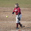 Megan Sutherland throws a pitch for Dundee against HAC.