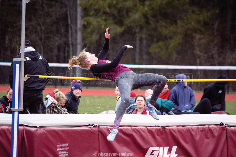 Madison Everetts competes in the high jump, Wednesday, April 18. Photo by: Briana Taft