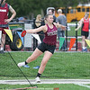 Dundee's Hallie Knapp throws the discus Monday evening at the school.