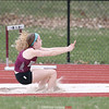 Lily Hall splashes into the sand at Dundee's track meet last week.