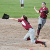 Makenzie Strait makes a diving catch for Dundee against Naples last week.