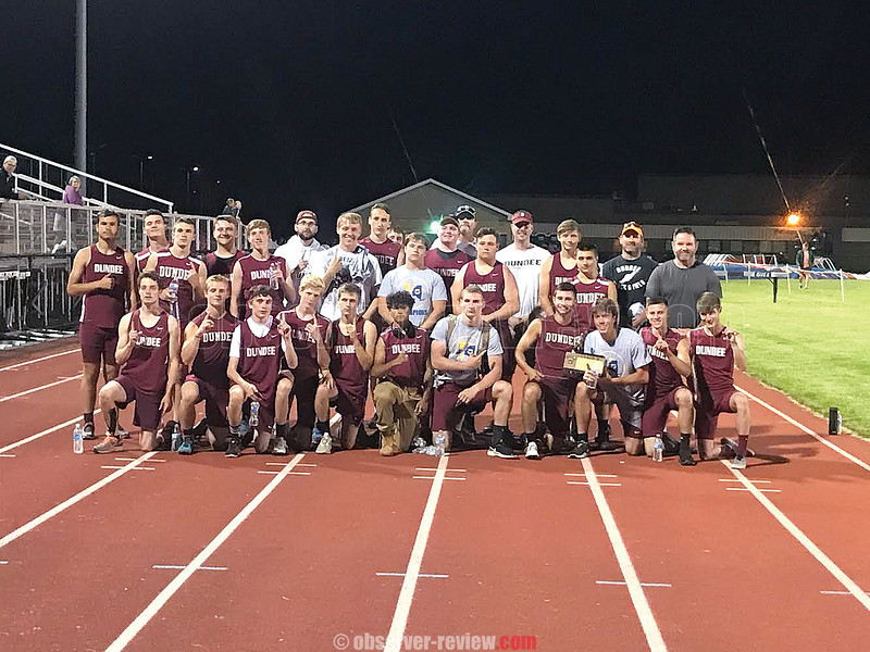 The Dundee boys track and field team won the Section V Class D Championship last Friday. PHOTO BY MACY HALL