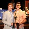 2016 Boys Coaches' Trophy winner Sean Emerson was called back a second time this year to award now two-time winner Dylan Stape.