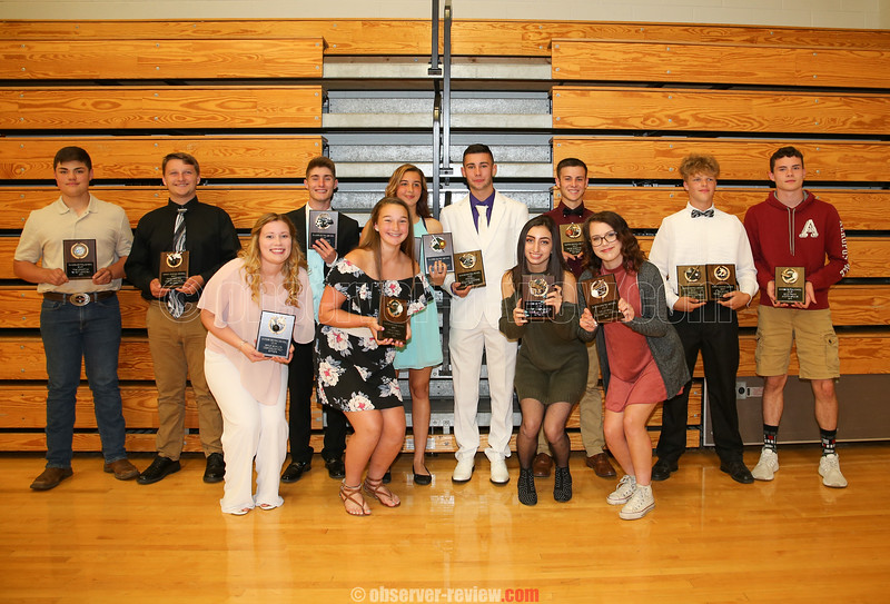 Dundee Most Valuable Players for each sport have a photo taken, Wednesday, June 6.